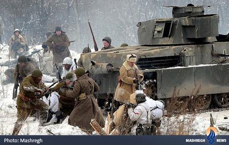 شبیه سازی جنگ جهانی دوم در هفتادومین سال پیروزی ارتش شوروی بر نازی ها در مسکو
