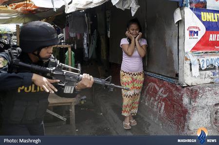 حمله نیروهای امنیتی فیلیپین به یک محله فقیر نشین و تخلیه کردن اجباری خانه2ها برای تخریب و ساخت یک مجتمع تجاری