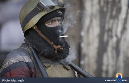 یکی از معترضان اوکراینی