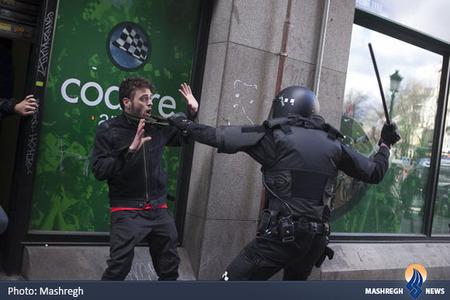 درگیری پلیس اسپانیا با معترضان به وضعیت اقتصادی
