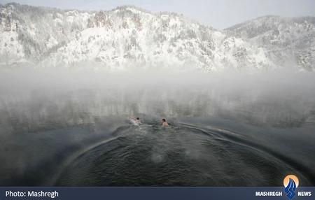 شنا در رودخانه سئی سیبری