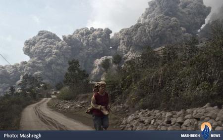 14 کشته در فوران آتش فشان کوه سینابونگ در اندونزی