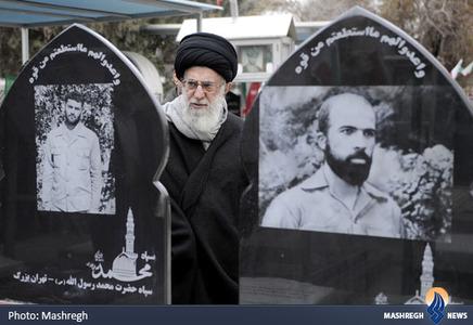 حضور رهبر معظم انقلاب بر مزار شهدای سپاه محمد رسول الله (ص)