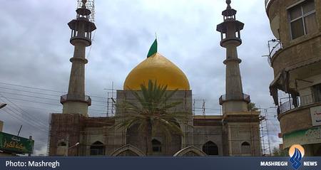 گنبد حرم حضرت سکینه(س) قبل از تخریب