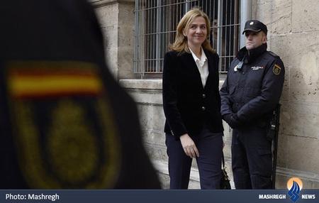 حضور کریستینا شاهزاده اسپانیا در دادگاه پالما د مایورکا به اتهام کلاهبرداری و پولشویی