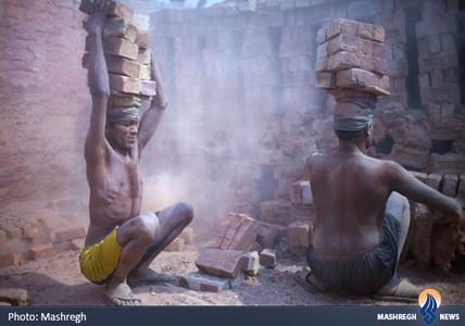کارگران آجرپزی در بنگلادش