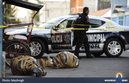 رها کردن شبانه 2 جسد در خیابانهای مکزیکوسیتی