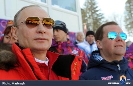 پوتین و مدودوف در المپیک زمستانی
