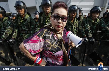 یکی از معترضان تایلندی