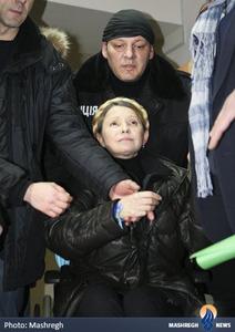 یولیا تیموشنکو نخست وزیر سابق اوکراین و یکی از رهبران معترضان ضد دولتی