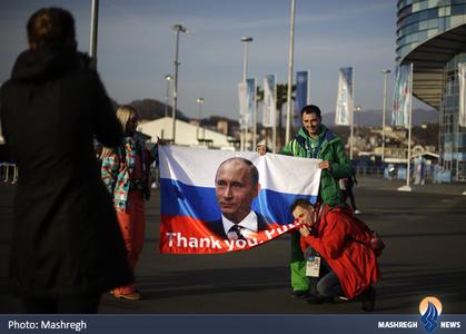 پوتین در حاشیه اختتامیه المپیک زمستانی سوچی