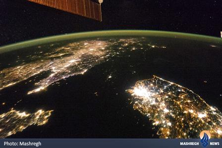 عکس گرفته شده توسط کارکنان ایستگاه فضایی ناسا
