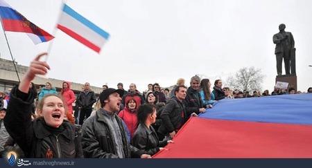 تظاهرات حامیان روسیه در شبه جزیره کریمه
