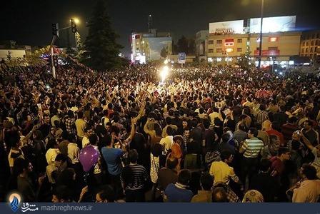 شادی مردم پس از پیروزی حسن روحانی در انتخابات