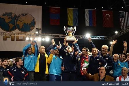 قهرمانی تیم ملی کشتی آزاد ایران در جام جهانی آمریکا