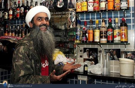 یکی از تندروهای افراطی وابسته به القاعده در شهر سائوپائولوی برزیل اقدام به افتتاح یک مغازه مشروب فروشی به نام سرکرده معدوم القاعده کرده است و شکل ظاهری خود را نیز شبیه به بن لادن ساخته.