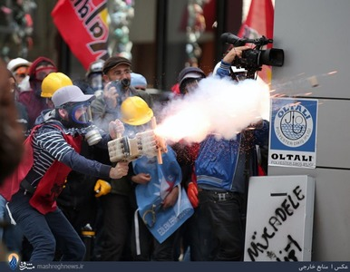 تظاهرات خشونت بار کارگران معترض در استانبول