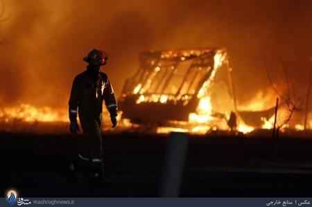 ناکامی آتش نشانان در مهار آتش سوزی در جنگلهای اوکلاهاما _ آمریکا