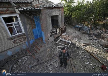 خسارات به جا مانده از درگیریها در شرق اوکراین