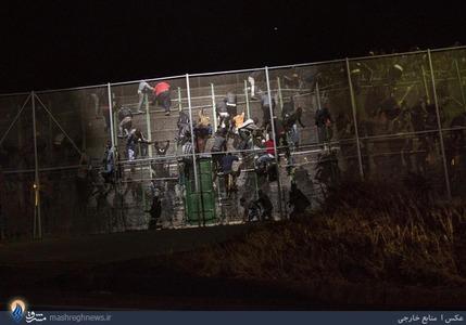 ورود غیرمجاز و شبانه مهاجران آفریقایی به خاک اسپانیا