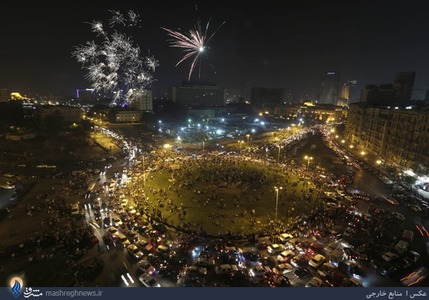 شادی هواداران ژنرال السیسی بعد از اعلام نتایج غیررسمی انتخابات ریاست جمهوری مصر