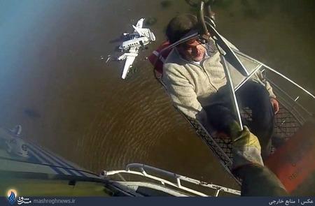 امدادرسانی هوایی به سرنشینان یک هواپیمای شخصی سقوط کرده در رودخانه ای در اروگوئه