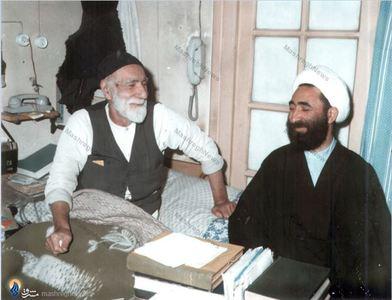 آیت الله شیخ حسین لنکرانی درکنار حجتالاسلام ابوذر بیدار در منزل شخصی