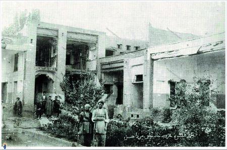 منزل آیت الله حاج میرزا حسن مجتهد تبریزی که توسط برخی مشروطه خواهان افراطی ویران شد
