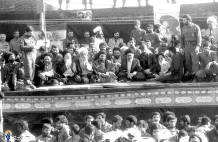بهشت زهرا، مراسم هفتمین روز رحلت امام خمینی(ره) باحضور رهبرمعظم انقلاب