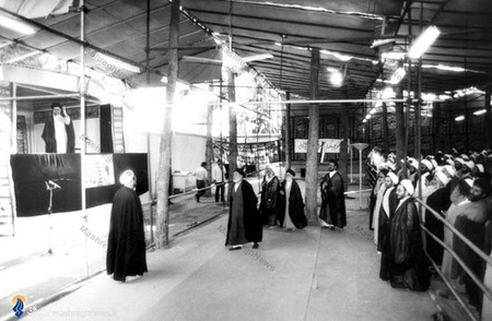 مراسم بیعت خطبا و اهل منبر تهران با رهبرمعظم انقلاب درمحوطه نهاد ریاست جمهوری