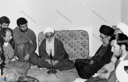 مراسم بیعت آیت الله جنتی رئیس و کارکنان سازمان تبلیغات اسلامی با رهبرمعظم انقلاب
