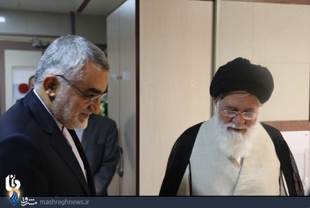 آیتالله علم الهدی و علاءالدین بروجردی رییس کمیسیون امنیت ملی
