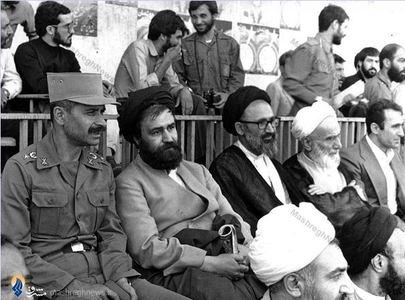 1359/ در کنار مرحوم حجت الاسلام حاج سید احمد خمینی و شهید تیمسار فلاحی