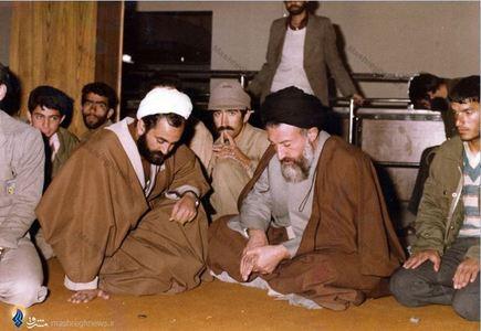 در سفر به اصفهان. در تصویر حجت الاسلام احمد سالک دیده میشود