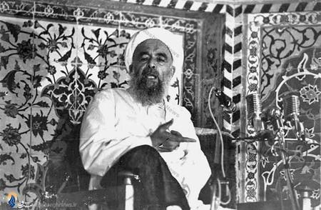 یزد/ شهید آیت الله محمد صدوقی در حال سخنرانی در مسجد روضه محمدیه