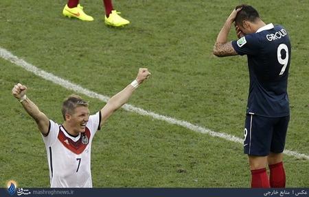 پیروزی آلمان مقابل فرانسه و صعود به مرحله نیمه نهایی جام جهانی