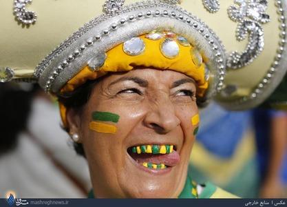 یکی از هواداران عجیب تیم ملی برزیل