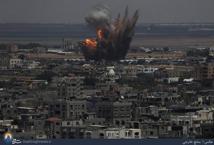 حمله موشکی رژیم صهیونیستی به نوار غزه