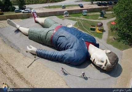 ساخت مجسمه گالیور در آلمان