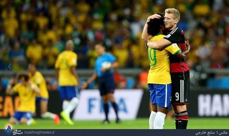 حاشیه های پایان دیدار تیمهای برزیل و آلمان