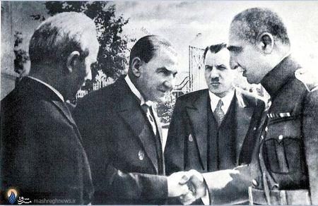 سفر رضاخان به ترکیه ودیدار وی با مصطفی کمال آتاتورک که تاثیر فکری فراوانی بر وی نهاد