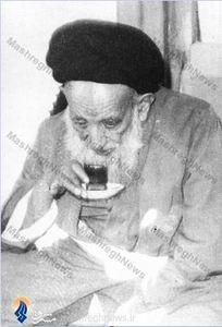 آیت الله سید محمد بهبهانی فرزند آیت الله سید عبدالله بهبهانی دردوران سالخوردگی