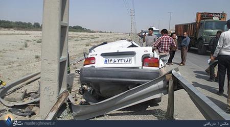 عکس تصادف تصادف ماشین تصادف خودرو تصادف پراید