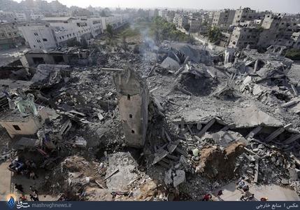 تخریب یکی دیگر از مساجد غزه با موشکهای اسرائیلی