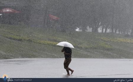 بارش شدید باران در شهر استانبول