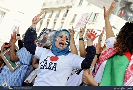 تظاهرات مردم پاریس در حمایت از مردم غزه