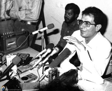 کنفرانس مطبوعاتی شهید دکتر سید حسن آیت در پاسخ به جوسازی های نوار مشهور
