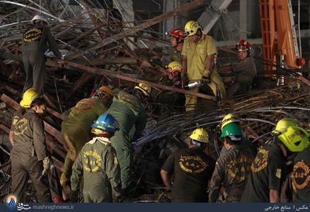 ریزش یک ساختمان در حال ساخت در بانکوک