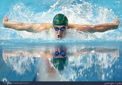 فینال مسابقات شنای صدمتر پروانه در المپیک جوانان نانجینگ