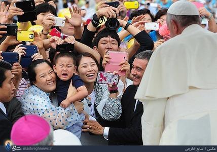 سفر پاپ به کره و دیدار با مردم این کشور
